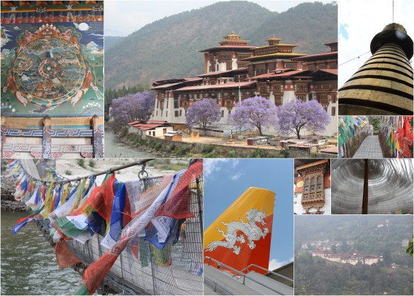 Bhutanese Buildings, Prayer Flags, and other wonderful items
