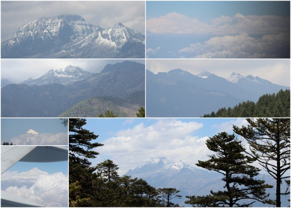 Bhutan's Mountain Views. Maybe one of Everest in the top right corner....maybe?